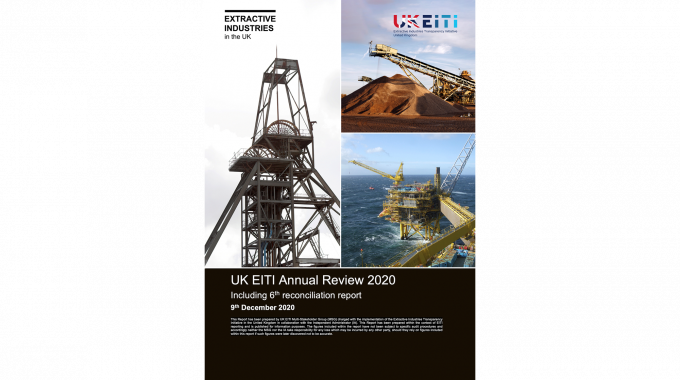 UK EITI Annual Review 2020 - cover image